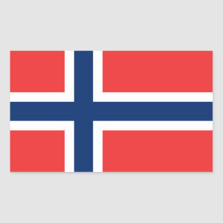Adesivo Retangular Bandeira Stickers* de Noruega