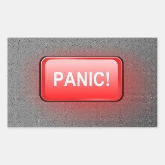 Adesivo Retangular Botão de pânico