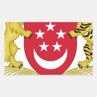 Adesivo Retangular Brasão do emblema do 新加坡国徽 de Singapore