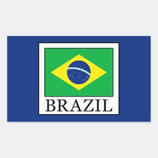 Adesivo Retangular Brasil