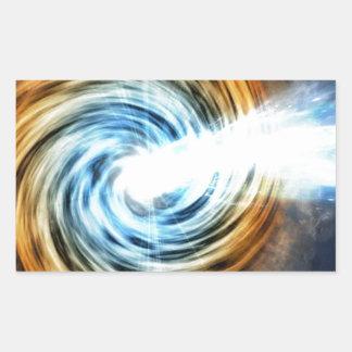 Adesivo Retangular buraco negro
