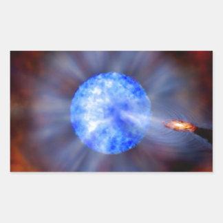 Adesivo Retangular Buraco negro M33 no espaço