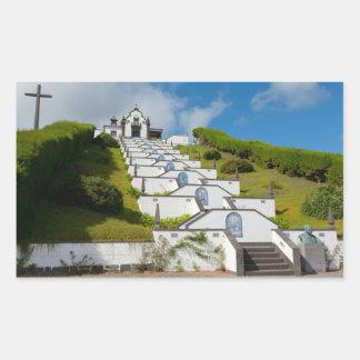 Adesivo Retangular Capela em ilhas de Açores