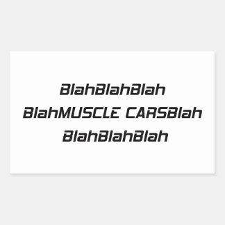 Adesivo Retangular Carro blá do músculo blá