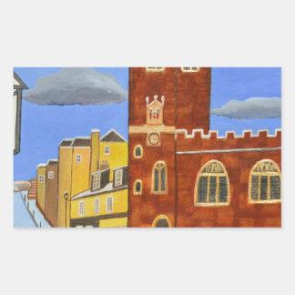 Adesivo Retangular Casa de Tudor em Exeter