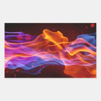 Adesivo Retangular chamas