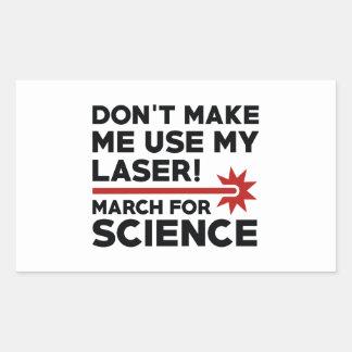 Adesivo Retangular Ciência março do laser
