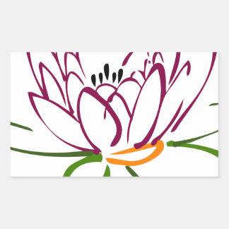 Adesivo Retangular Coração de Lotus