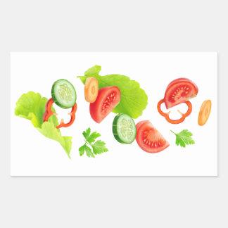 Adesivo Retangular Corte vegetais
