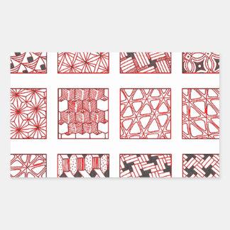 Adesivo Retangular doodle patterns