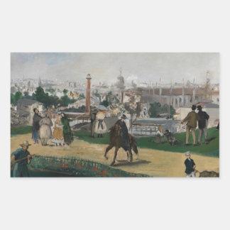 Adesivo Retangular Edouard Manet - ideia da exposição universal