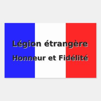 Adesivo Retangular Etrangere da legião - Honneur e Fidelite