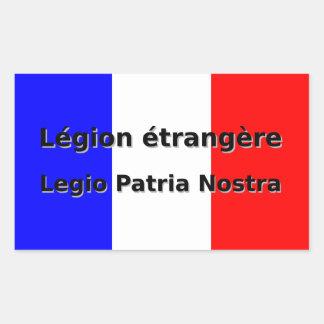 Adesivo Retangular Etrangere da legião - Legio Patria Nostra