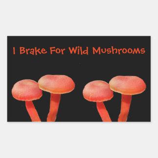Adesivo Retangular Eu travo para a natureza bonito do cogumelo