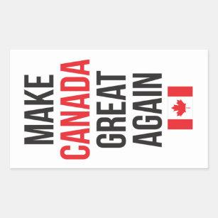 Adesivo Retangular Faça #MCGA da bandeira do canadense do excelente