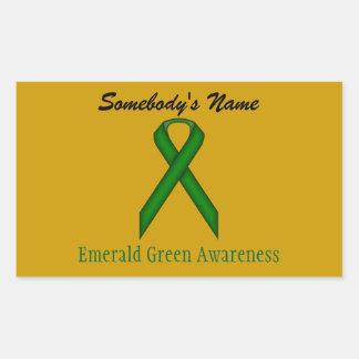 Adesivo Retangular Fita do padrão do verde esmeralda