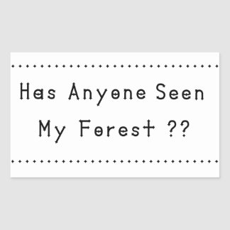 Adesivo Retangular Forrest
