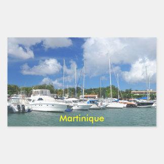 Adesivo Retangular Fort-de-France, Martinica