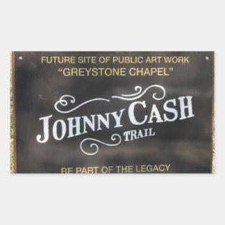 Adesivo Retangular Ícone de Folsom: Sinal na fuga de Johnny Cash