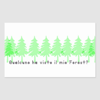 Adesivo Retangular Italiano-Forrest