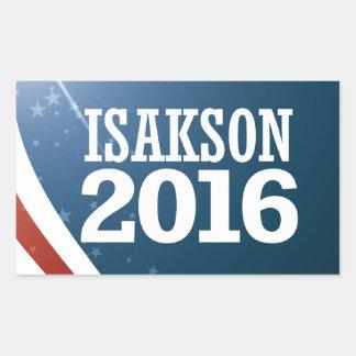 Adesivo Retangular Johnny Isakson 2016