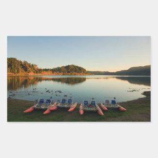 Adesivo Retangular Lago Furnas no por do sol