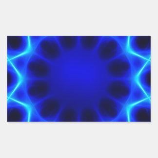 Adesivo Retangular laser azul #2