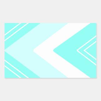 Adesivo Retangular Listras azuis e brancas do Aqua do ziguezague