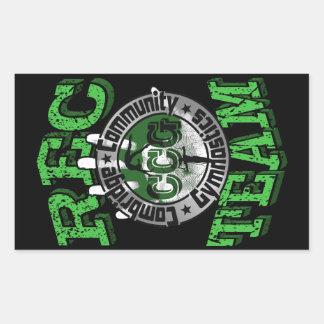 Adesivo Retangular Logotipo da equipe do Rec (CCG) da ginástica da
