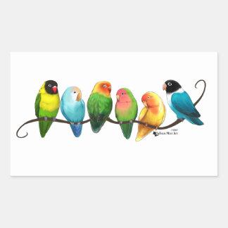 Adesivo Retangular Lovebirds
