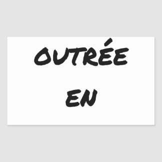 Adesivo Retangular MÃE INSULTADA EM NO ULTRAMAR - Jogos de palavras