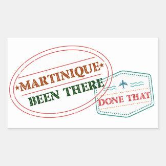 Adesivo Retangular Martinica feito lá isso