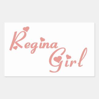 Adesivo Retangular Menina de Regina