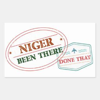Adesivo Retangular Niger feito lá isso