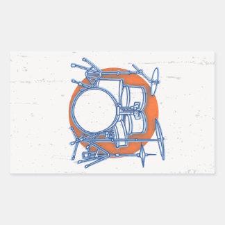 Adesivo Retangular Offset do jogo do cilindro