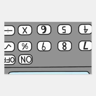 Adesivo Retangular olá! calculadora