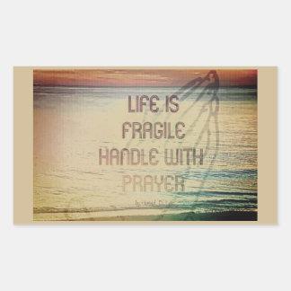Adesivo Retangular Oração da vida