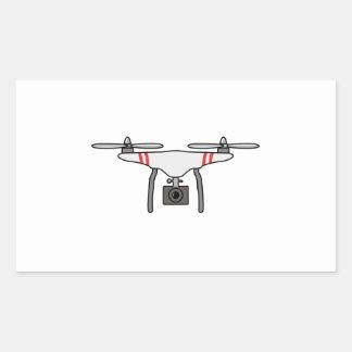 Adesivo Retangular Parte dianteira de vôo de Quadcopter do zangão