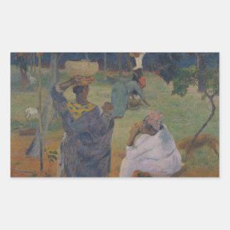 Adesivo Retangular Paul Gauguin - entre as manga em Martinica