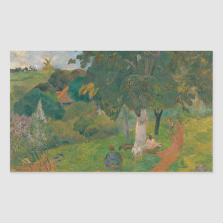 Adesivo Retangular Paul Gauguin - vindo e indo, Martinica