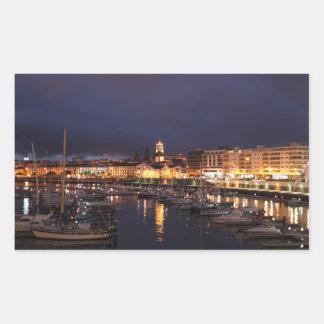 Adesivo Retangular Ponta Delgada na noite
