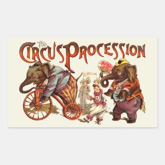 Adesivo Retangular Procissão do circo