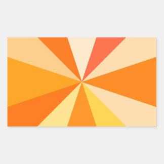 Adesivo Retangular Raios 60s geométricos Funky modernos do pop art na