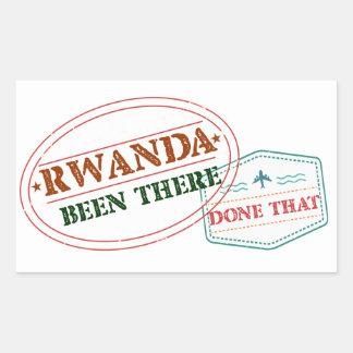 Adesivo Retangular Rwanda feito lá isso