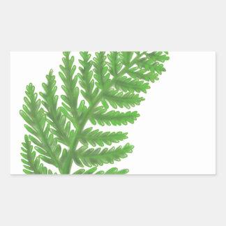 Adesivo Retangular Samambaia verde