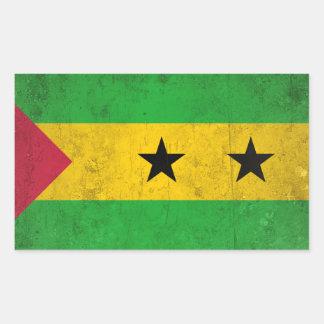 Adesivo Retangular Sao Tome and Principe