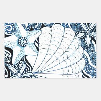 Adesivo Retangular Seashells