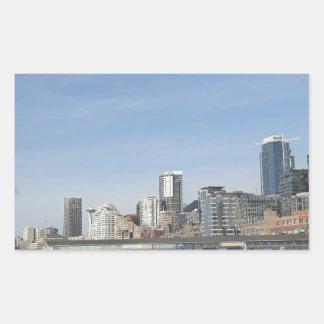 Adesivo Retangular Seattle pelo beira-rio