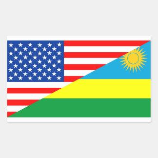 Adesivo Retangular símbolo de América da bandeira do país dos EUA