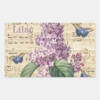 Adesivo Retangular Sonho do Lilac